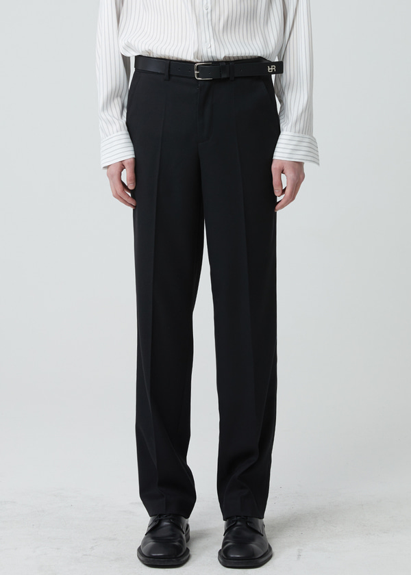 STRAIGHT LONG PANTS BLACK