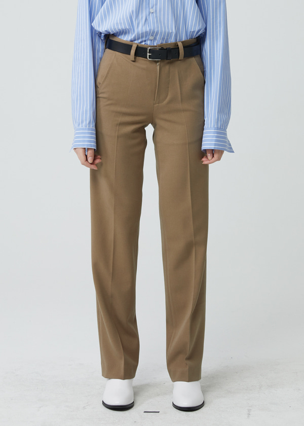 STRAIGHT LONG PANTS BEIGE