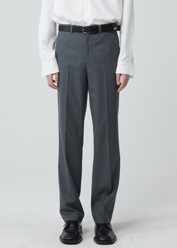 STRAIGHT LONG PANTS GRAY