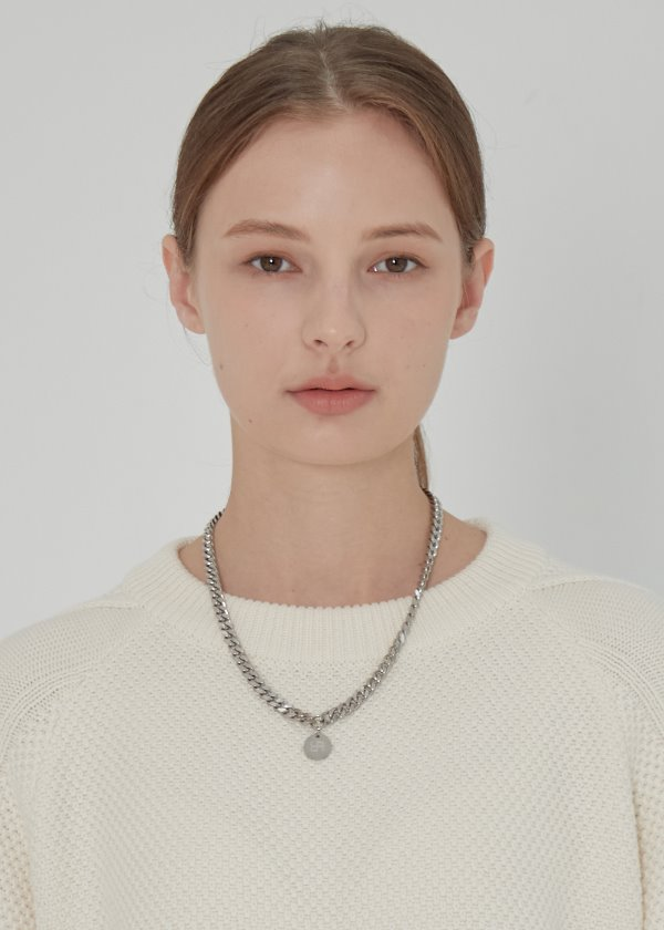 PENDENT CHAIN NECKLACE SILVER