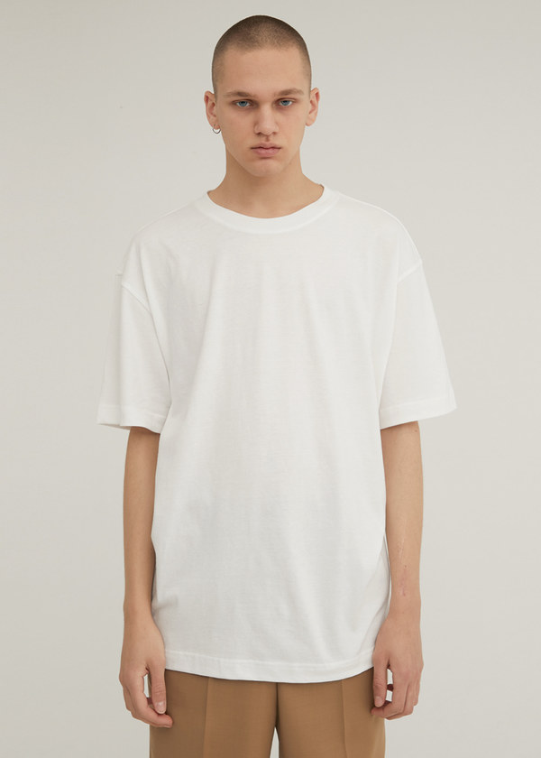 HALF SLEEVE CREW NECK T-SHIRT IVORY