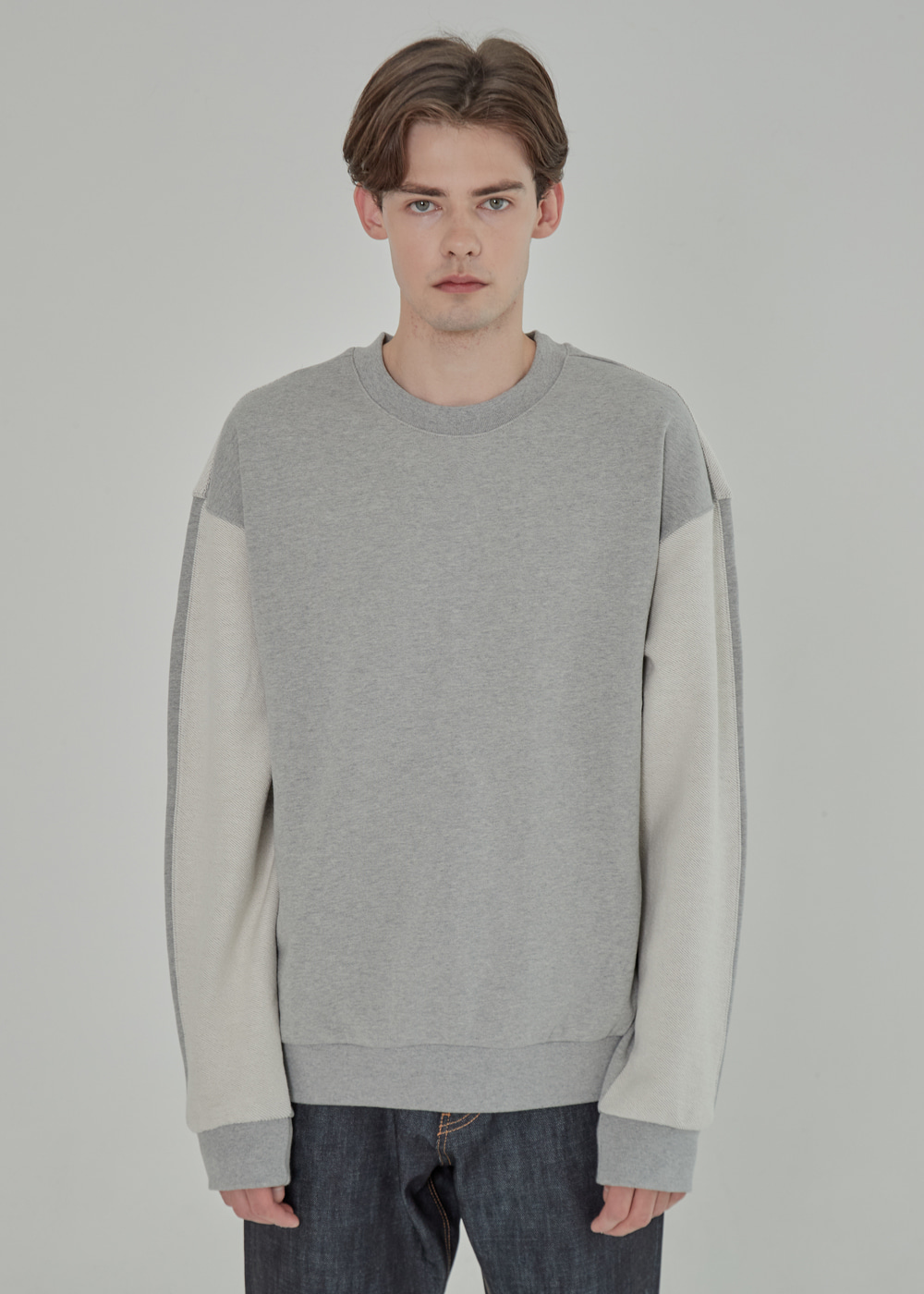 INSIDE OUT HEAVY SWEAT SHIRT GRAY