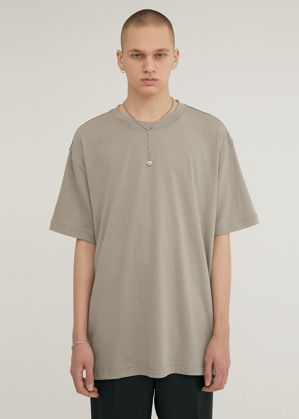 HALF SLEEVE CREW NECK T-SHIRT KHAKI