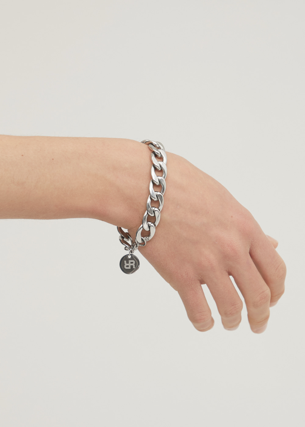 ROUNDED CHAIN BRACELET SILVER